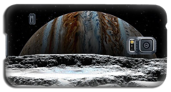 Galaxy S5 Case featuring the digital art Jupiter Rise At Europa by David Robinson