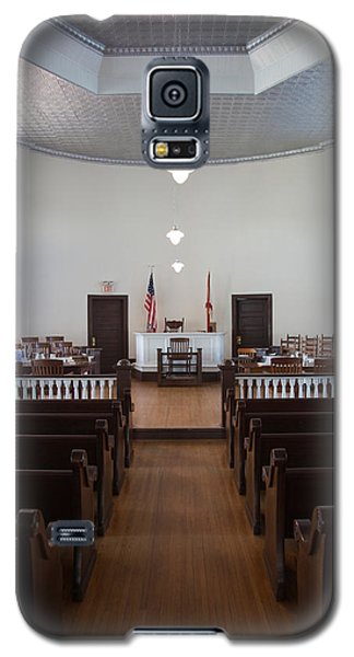 Mockingbird Galaxy S5 Case - Jury Box In A Courthouse, Old by Panoramic Images