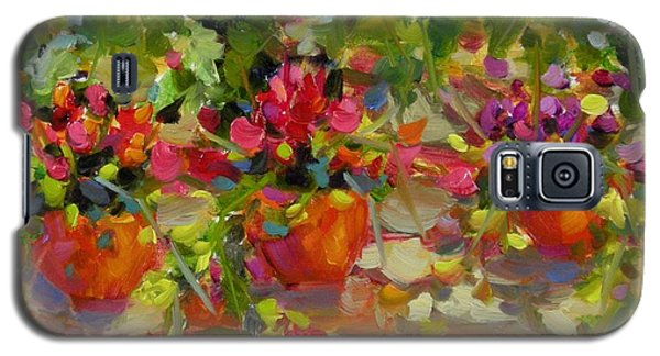 Galaxy S5 Case featuring the painting Just Another Wall In Tuscany by Chris Brandley