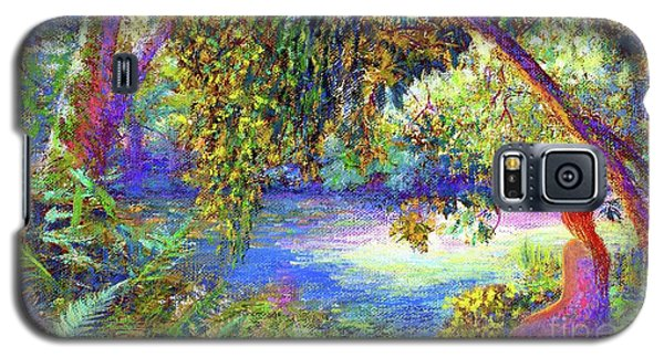 Galaxy S5 Case featuring the painting Just Be by Jane Small