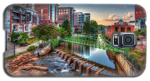 Just Before Sunset 2 Reedy River Falls Park Greenville South Carolina Art Galaxy S5 Case