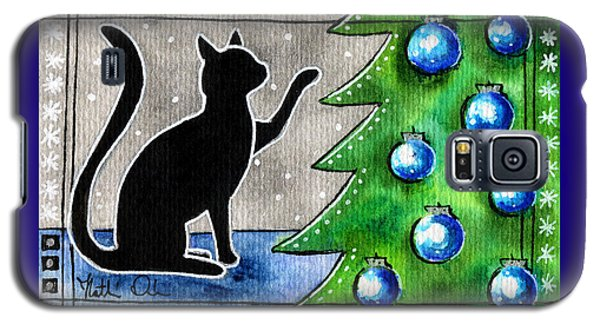 Just Counting Balls - Christmas Cat Galaxy S5 Case