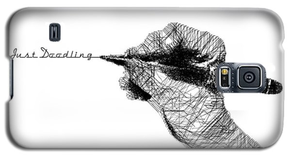 Galaxy S5 Case featuring the digital art Just Doodling by ISAW Company