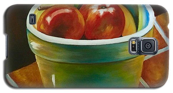 Galaxy S5 Case featuring the painting Just Fruit Reflections by Susan Dehlinger