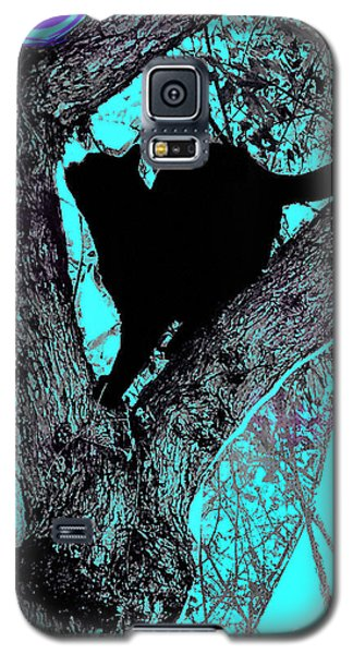 Fauve Cat And Moon Galaxy S5 Case
