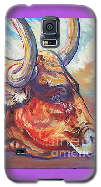 Galaxy S5 Case featuring the painting Just Looking by Jenn Cunningham