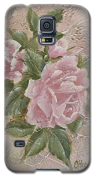 Galaxy S5 Case featuring the painting Just Roses by Chris Hobel