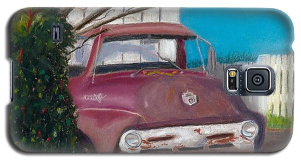 Galaxy S5 Case featuring the painting Just Up The Road by Arlene Crafton
