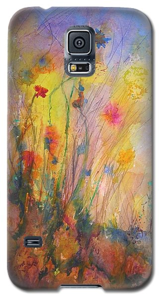 Galaxy S5 Case featuring the painting Just Weeds by Mary Schiros