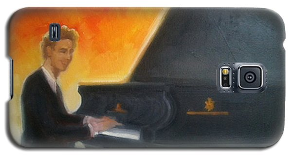 Justin Levitt At Piano Red Blue Yellow Galaxy S5 Case