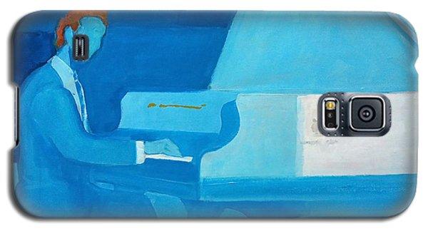 Justin Levitt Steinway Piano Blue Galaxy S5 Case