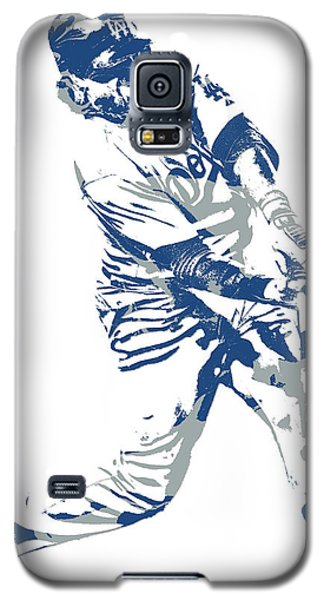 Los Angeles Dodgers Galaxy S5 Case - Justin Turner Los Angeles Dodgers Pixel Art 10 by Joe Hamilton
