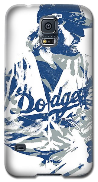 Los Angeles Dodgers Galaxy S5 Case - Justin Turner Los Angeles Dodgers Pixel Art 15 by Joe Hamilton