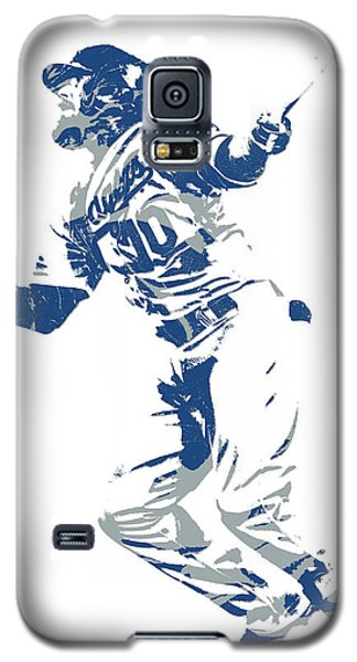 Los Angeles Dodgers Galaxy S5 Case - Justin Turner Los Angeles Dodgers World Series Homerun by Joe Hamilton