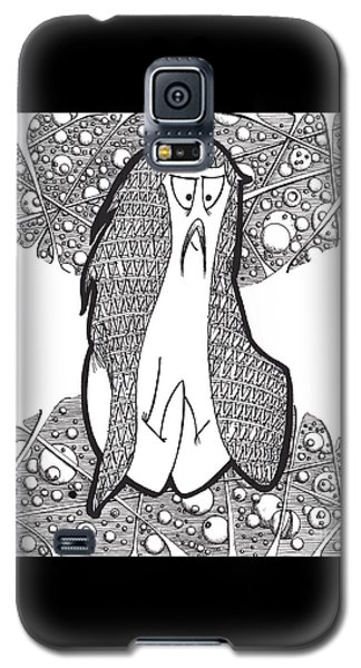 Galaxy S5 Case featuring the drawing Kabuki Spaceghost by Uncle J's Monsters