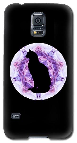 Kaleidoscope Cat Silhouette Galaxy S5 Case