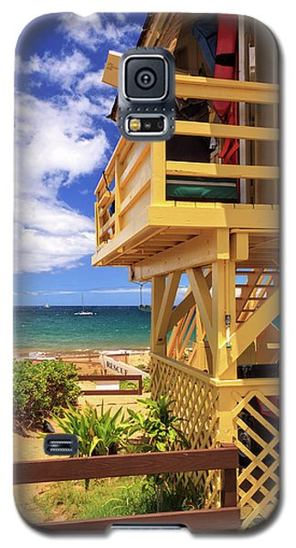 Galaxy S5 Case featuring the photograph Kamaole Beach Lifeguard Tower by James Eddy