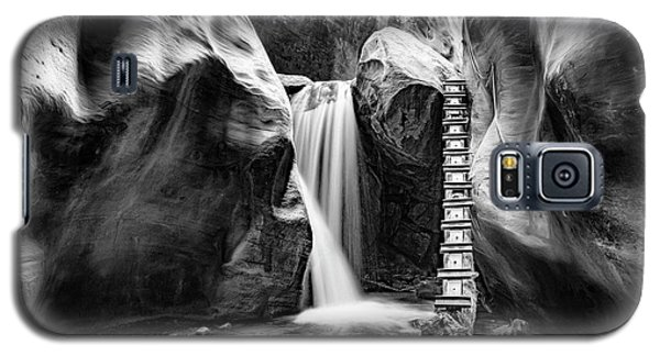 Kanarraville Falls Bw Galaxy S5 Case