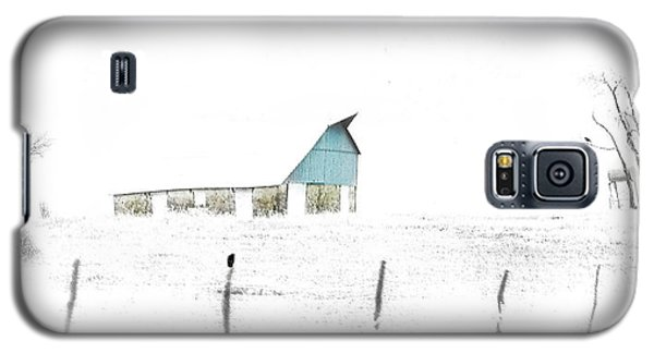Kansas Blue Barn In Frozen Fog Galaxy S5 Case