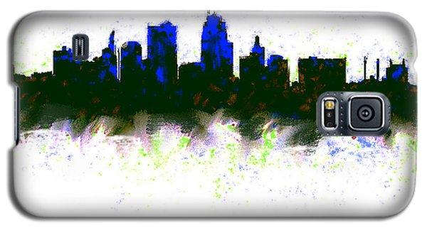 Ben Affleck Galaxy S5 Case - Kansas City Skyline Blue  by Enki Art