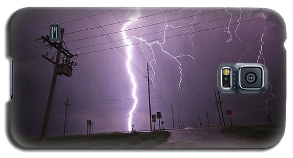 Galaxy S5 Case featuring the photograph Kansas Lightning by Ryan Crouse