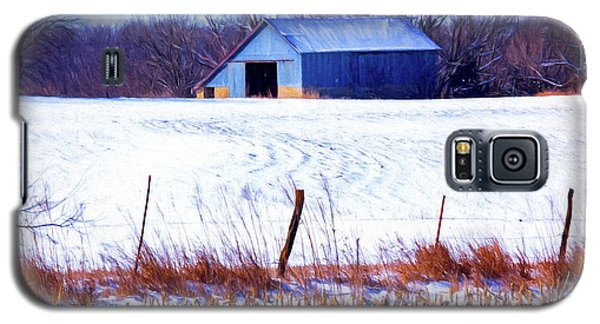 Kansas Winter Field Barn 1 Galaxy S5 Case