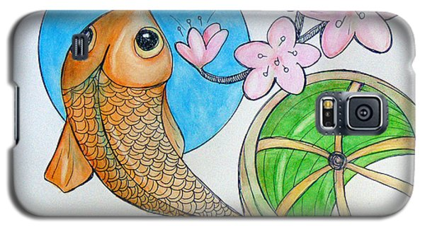 Karp And Cherry Blooms Galaxy S5 Case