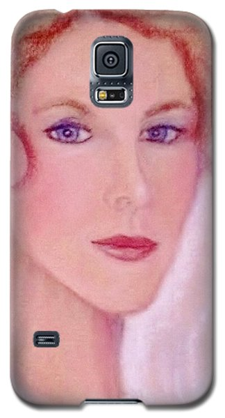 Galaxy S5 Case featuring the drawing Kate by Denise Fulmer