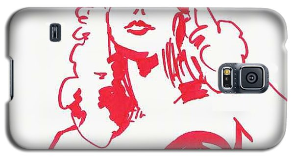 Galaxy S5 Case featuring the drawing Kate Moss by Seth Weaver