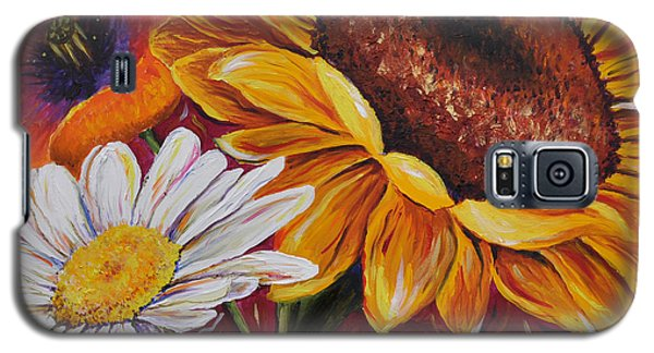 Kathrin's Flowers Galaxy S5 Case by Lisa Fiedler Jaworski