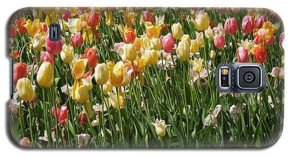 Galaxy S5 Case featuring the photograph Kathy's Tulips by Peg Toliver