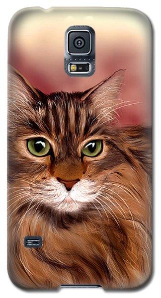 Katie- Custom Cat Portrait Galaxy S5 Case