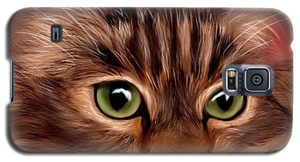 Katie- Custom Cat Portrait Galaxy S5 Case