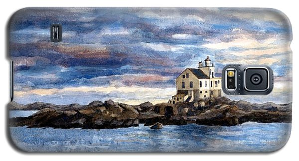 Galaxy S5 Case featuring the painting Katland Lighthouse by Janet King