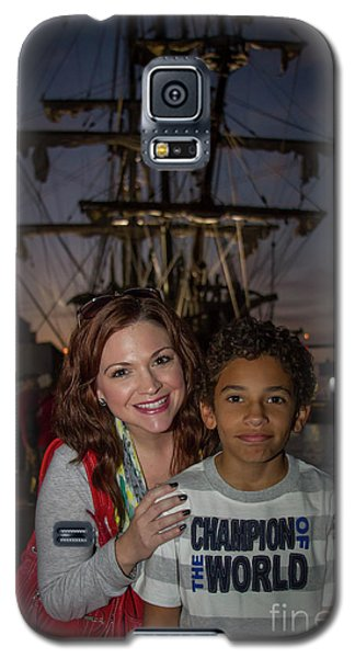 Galaxy S5 Case featuring the photograph Katy And Baby James Art by Reid Callaway