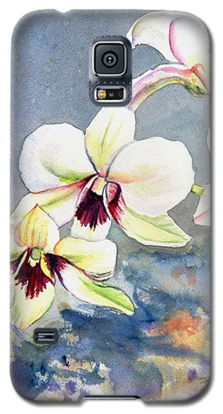 Galaxy S5 Case featuring the painting Kauai Orchid Festival by Marionette Taboniar