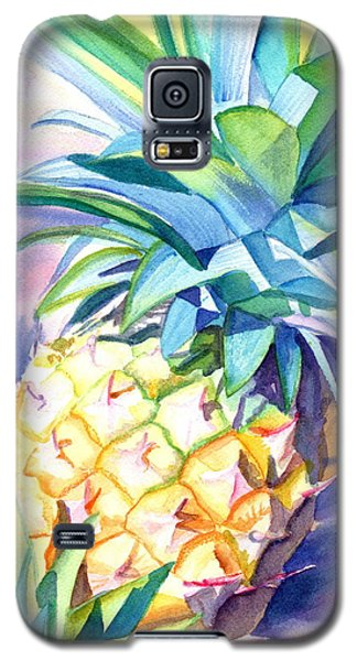 Galaxy S5 Case featuring the painting Kauai Pineapple 3 by Marionette Taboniar