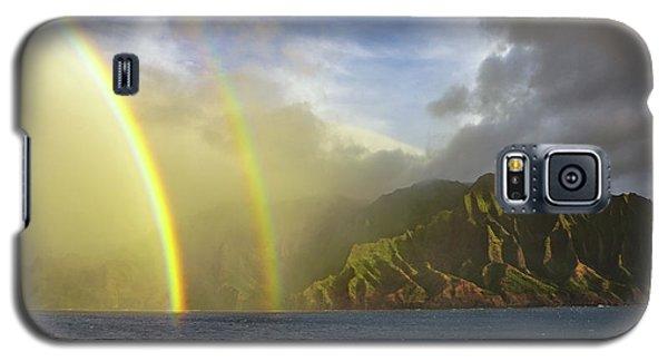 Kauai Sunset Rainbow Galaxy S5 Case