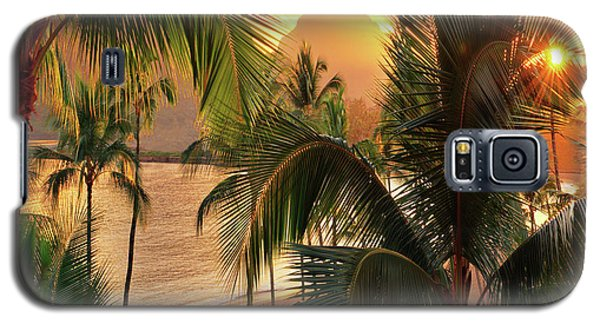 Olena Art Kauai Tropical Island View Galaxy S5 Case