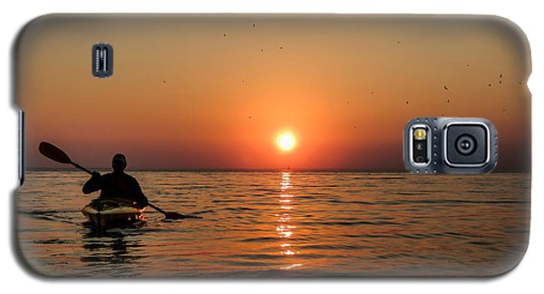 Kayak At Sunset Galaxy S5 Case