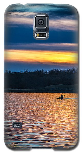 Kayak Sunset Galaxy S5 Case