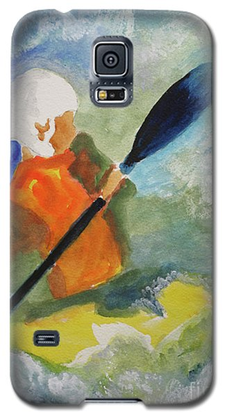 Galaxy S5 Case featuring the painting Kayaking by Sandy McIntire
