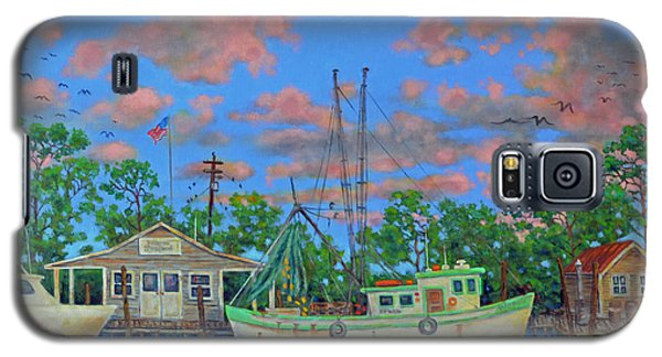 Galaxy S5 Case featuring the painting kayaks on the Creek by Dwain Ray