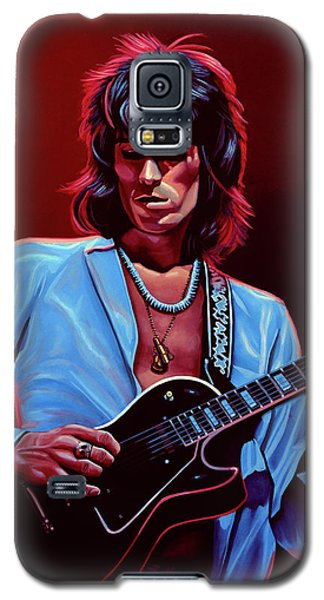 Rolling Stone Magazine Galaxy S5 Case - Keith Richards The Riffmaster by Paul Meijering