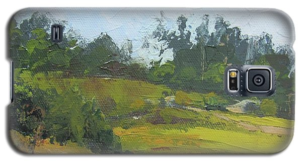 Galaxy S5 Case featuring the painting Kenilworth Hills Queensland Australia by Chris Hobel