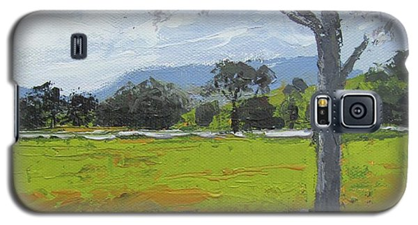 Galaxy S5 Case featuring the painting Kenilworth Landscape Queensland Australia by Chris Hobel