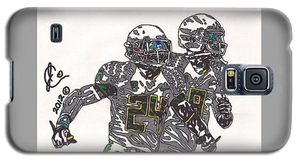 Kenjon Barner And Marcus Mariota Galaxy S5 Case by Jeremiah Colley