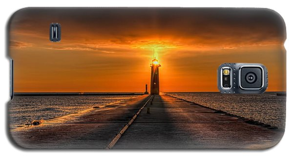 Kenosha Lighthouse Beacon Square Galaxy S5 Case