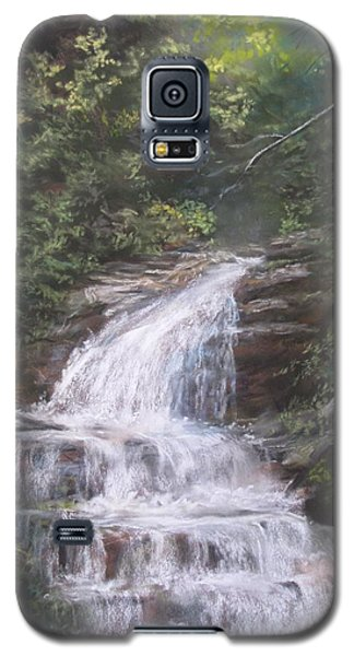 Galaxy S5 Case featuring the pastel Kent Falls by Jack Skinner