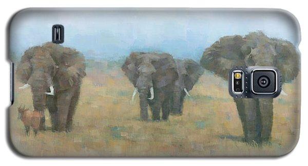 Kenyan Elephants Galaxy S5 Case by Steve Mitchell